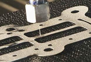 Waterjet cutting without an abrasive